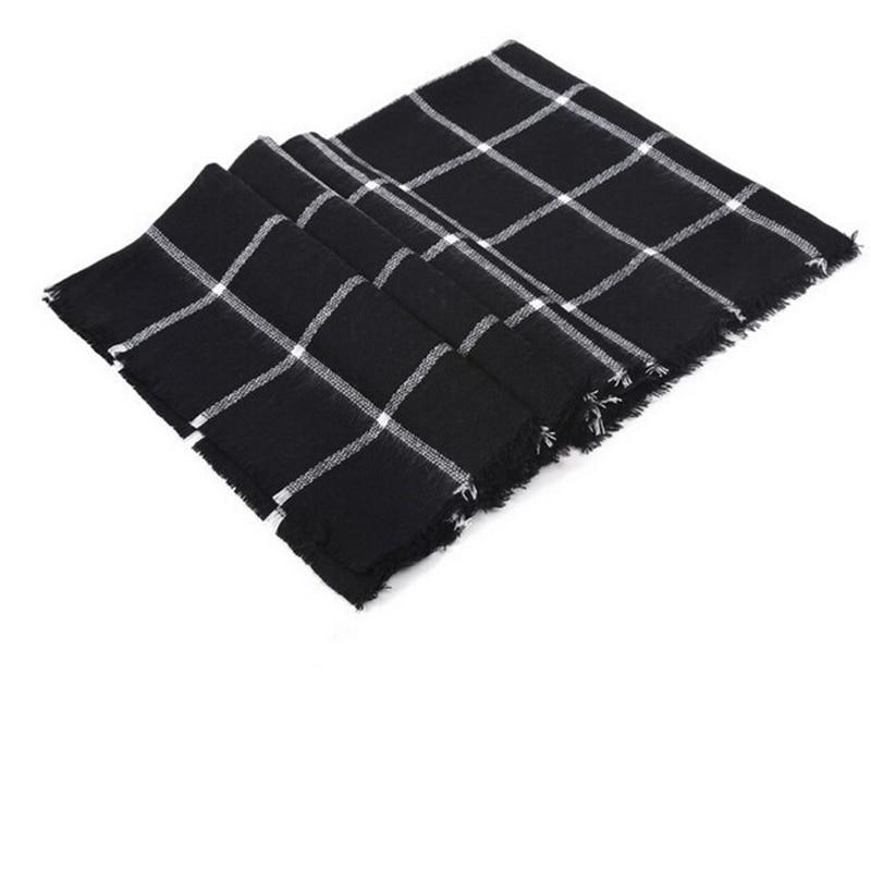 Écharpe Femmes Haute qualité Tartan foulards Tartan Plaid Écharpe Beige  Cozy Vérifié Couverture Surdimensionné Wrap Châle robe d hiver foulards  dans ... cc0b594e31a