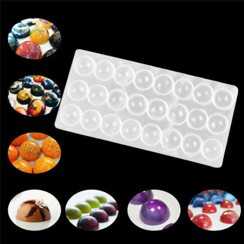Chocolate-Maker Mold Polycarbonate Clear 100-Transparent DIY Hard Candy 24-Half-Ball