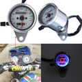 Dual Odometer Speedometer Gauge LED Backlight 3 Indicators for Motorcycle