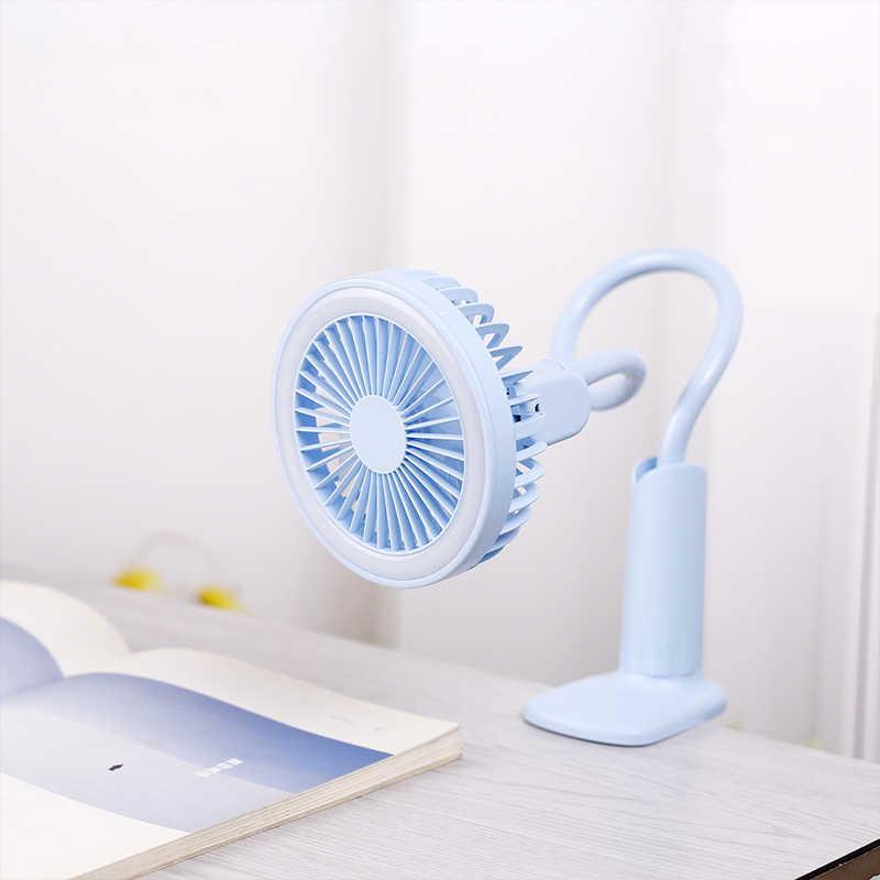 Портативный usb-вентилятор, гибкий светодиодный светильник, 2 скорости, регулируемый кулер, мини-вентилятор, удобный маленький настольный usb-вентилятор для детей