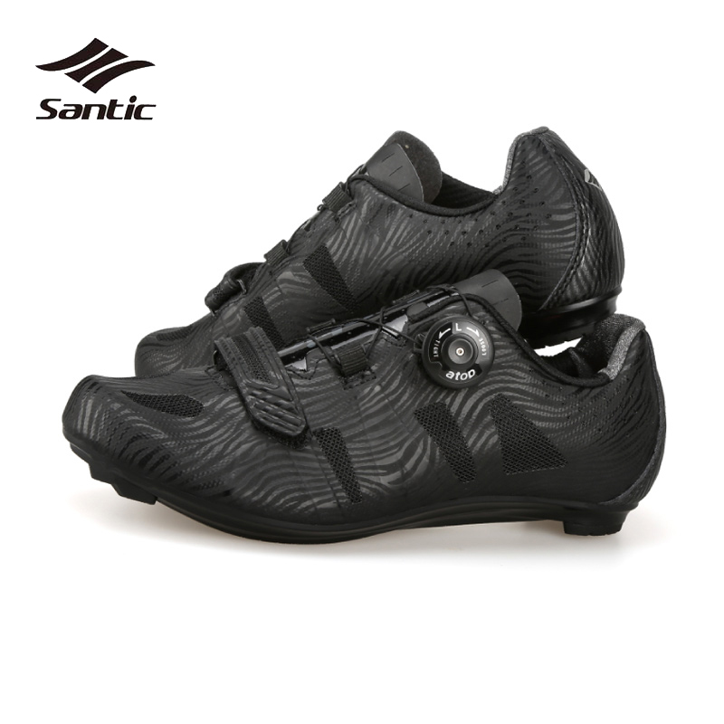 Santic Road Cycling Shoes Men Nylon Breathable Pro Team Road Bike Shoes Self-locking Athletic Bicycle Shoes Ciclismo 2018 NEW santic men pro cycling shoes road bicycle shoes breathable