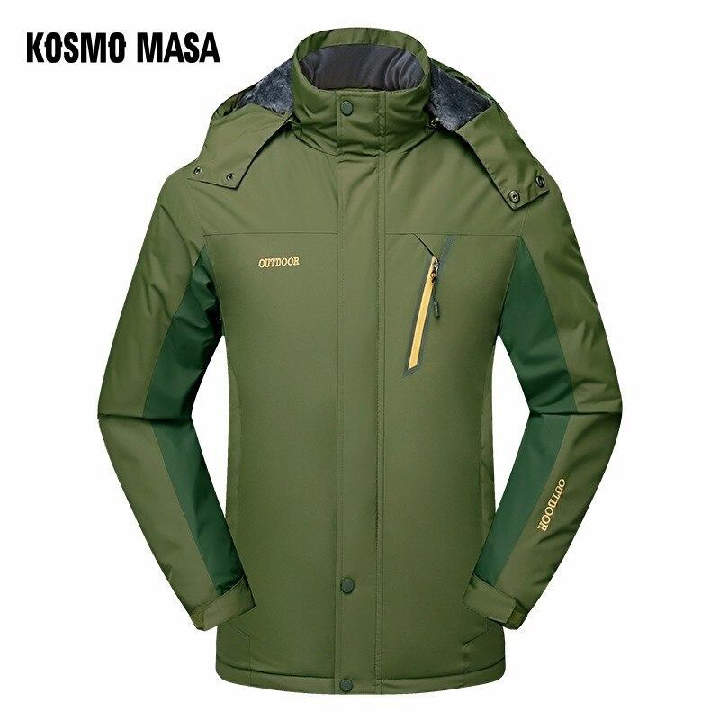 Inverno Uomo Di Caldo Giubbotti Cappotti Giacca Spessore All aperto Con  Pelliccia Masa green Kosmo Blue ... e2c60fa7945