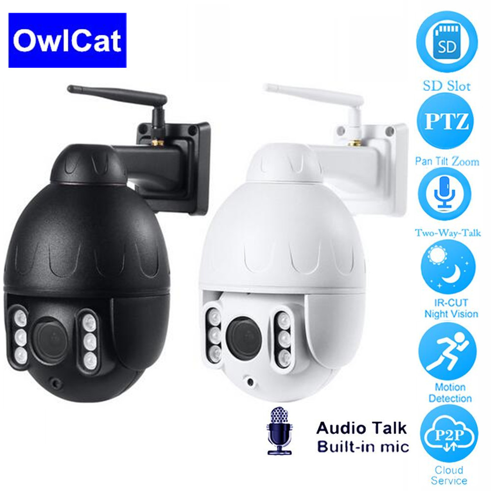 OwlCat IP Camera WiFi 2MP 1080P Wireless PTZ Dome CCTV IR Onvif Two Way Audio Outdoor Security Surveillance ip Camara exteriorOwlCat IP Camera WiFi 2MP 1080P Wireless PTZ Dome CCTV IR Onvif Two Way Audio Outdoor Security Surveillance ip Camara exterior