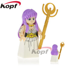 Building Blocks Single Sale Knights of the Zodiac Athena Pegasus Hyoga Dragon Saint Seiya Super Heroes Toys for children PG1150(China)