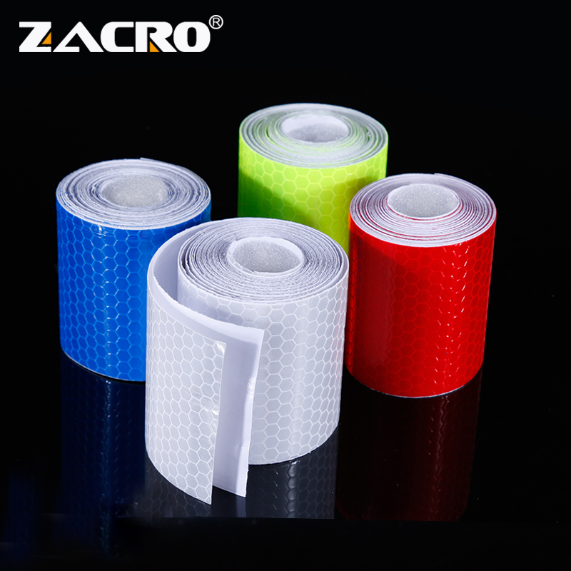 Zacro 5cmx3m Reflective Bicycle Stickers Adhesive Tape for Bike Safety White Red Yellow Blue Bike Stickers Bicycle Accessories|Bicycle Stickers|   - AliExpress