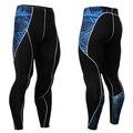 Мужчины теплые ноги мужская с длинным джон колготки брюки MMA мужская Сжатия Леггинсы Тренировки Crossfit Брюки