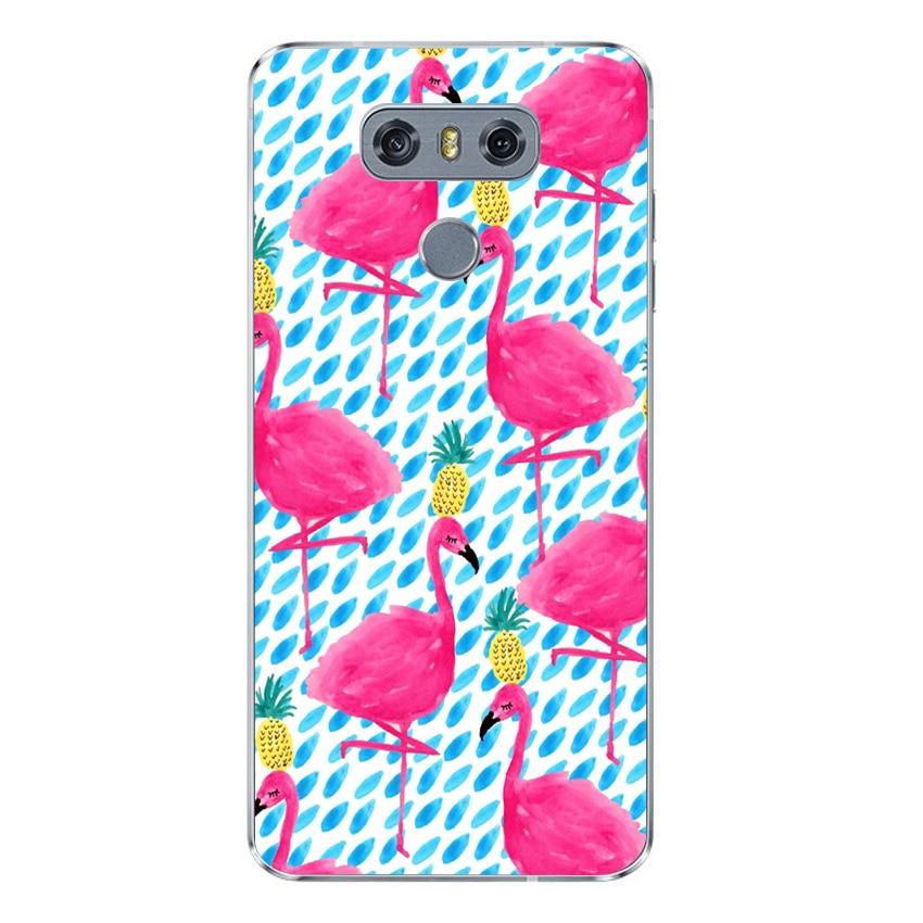ciciber Pink Flamingo For V40 V35 V30 V20 THINQ LG G7 G6 G5 G4 Soft TPU For LG K10 K8 K7 K4 2017 2018 K9 K11 Phone Cases Coque in Fitted Cases from Cellphones Telecommunications