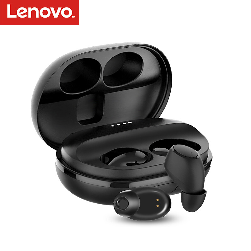 Lenovo Music Headset Bluetooth Handfree Huawei iPhone Tws Wireless Charging-Box Sport