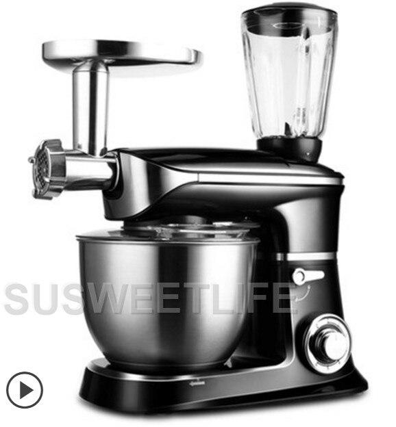 Broyeur multifonctionnel automatique de viande de ménage de mélangeur de nourriture de mélangeur de support de 1300 W 6.5L, machine de battement d'oeufs de machine de malaxage de presse-agrumes