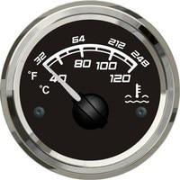 KUS Marine Water Temperature Gauge Boat Truck Car RV Water Temp Gauge Steel Bezel Black Face 40-120 Degree