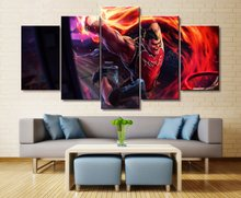 Painting Wall Art Paintings on Canvas for Home Decorations Decor 5 Piece Game League of Legends the Hand Noxus