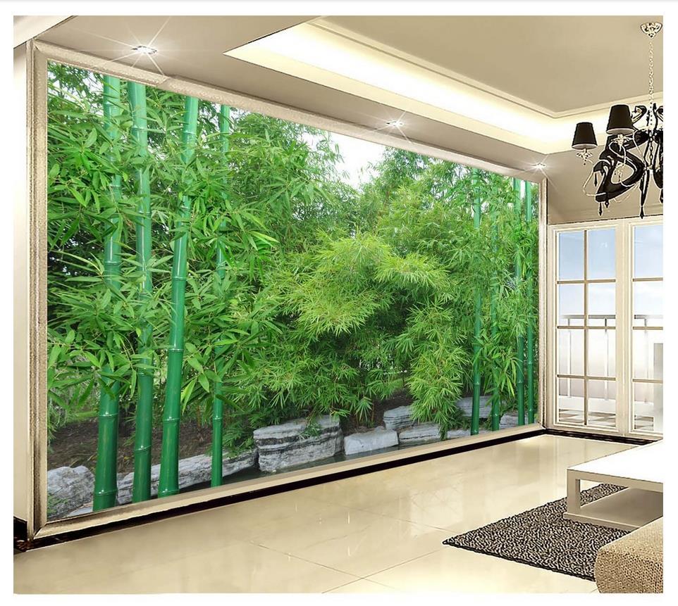 photo wallpaper 3d wall murals wallpaper custom HD bamboo ...