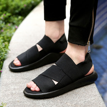 2016 New Arrival Y3 Sandals KAOHE SANDALS Outdoor Men Slippers Open-toed Leather sandals Men Sandals G-DRAGON Slides Top Quality