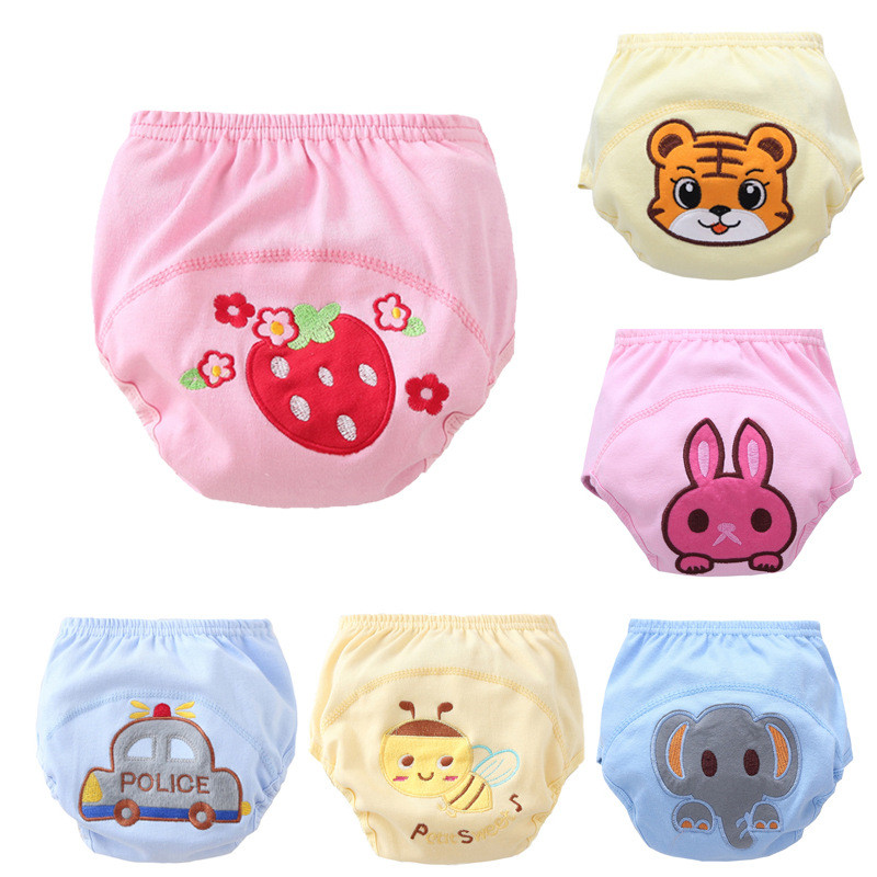 1pcs/lot Diapers baby diaper childrens underwear reusable nappies training pants panties for toilet training child a-qdkbl015-1
