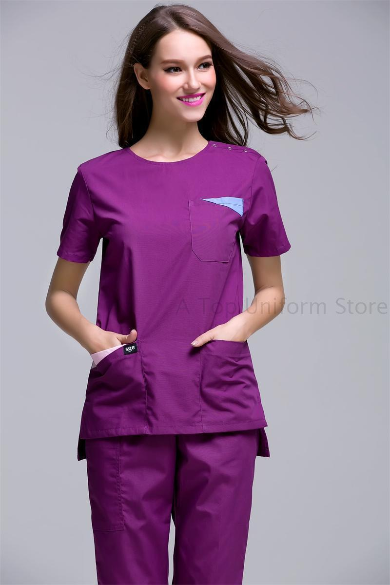 Online buy wholesale medical uniforms from china medical for Spa uniform colors