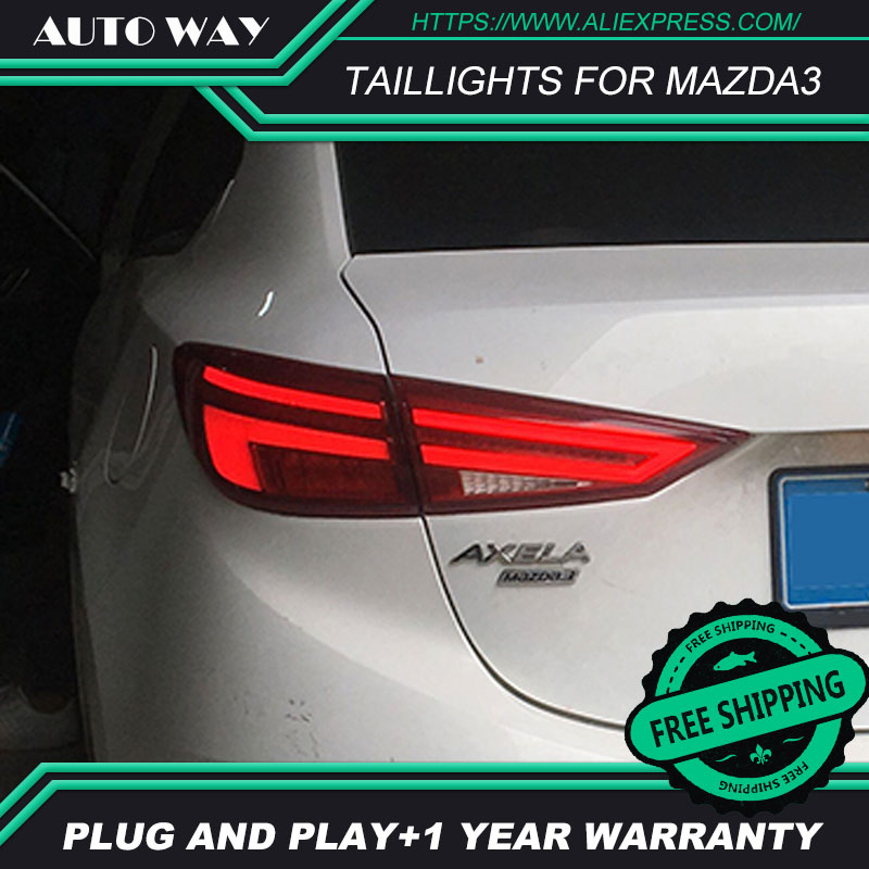 Car Styling case for Mazda3 Axela taillights 2014-2017 Design LED Mazda 3 M3 taillight TAIL Lights All LED Rear Lamp free shipping for vland car tail lamp for civic led taillight 2016 2017 with spoiler light all led design