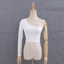 Off Shoulder Sexy Female Knitted Crop Top Women White Black Tops Streetwear Elastic Short T shirt Knitting Cropped Camis Tees
