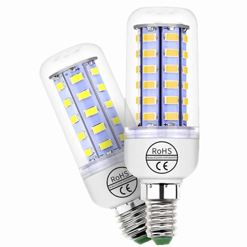 Corn Bulb E27 LED Lamp AC220V E14 5730SMD 3W 5W 7W 12W 15W 18W 20W 25W Bedroom Lampada Energy Saving Light 360 Degree Warm/White