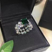 Дизайнерские Модные ювелирные изделия из меди 3а кубического циркония вечерние кольца