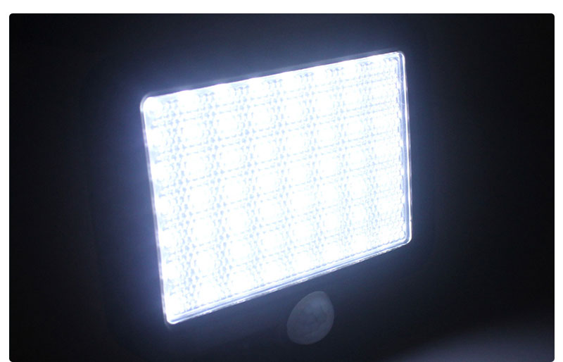 Waterproof Outdoor Solar Wall Light with 56 LED with PIR Motion Sensor for Garage and Yard 18