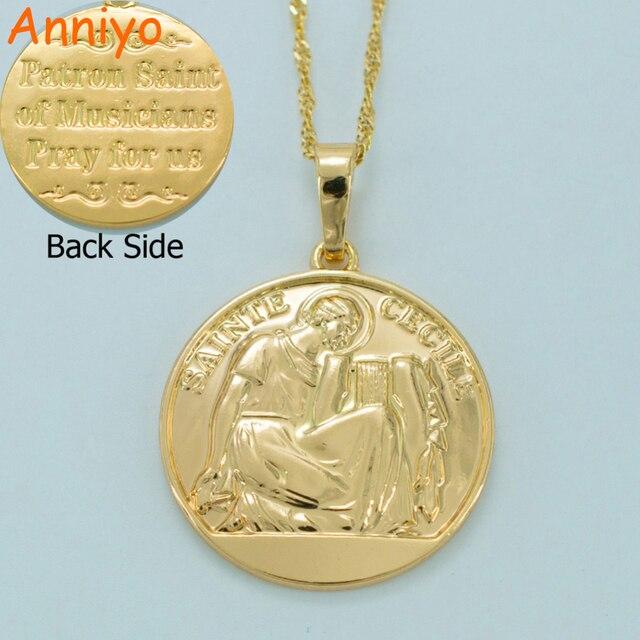 Anniyo sainte cecile pendant necklacesstcecilia is the patron anniyo sainte cecile pendant necklacesstcecilia is the patron saint of musicians aloadofball Gallery