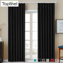 Topfinel modern solid velvet curtains for living room bedroom soft comfortable curtains Warm night Diverse colors semi-Blackout(China)