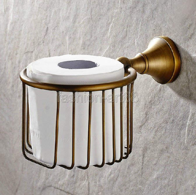 Antique Brass Bathroom Wall Mounted Toilet Paper Roll Holder Tissue Basket Holder Bathroom Accessory aba148 коньки раздвижные k2 charm ice подростковые 2014
