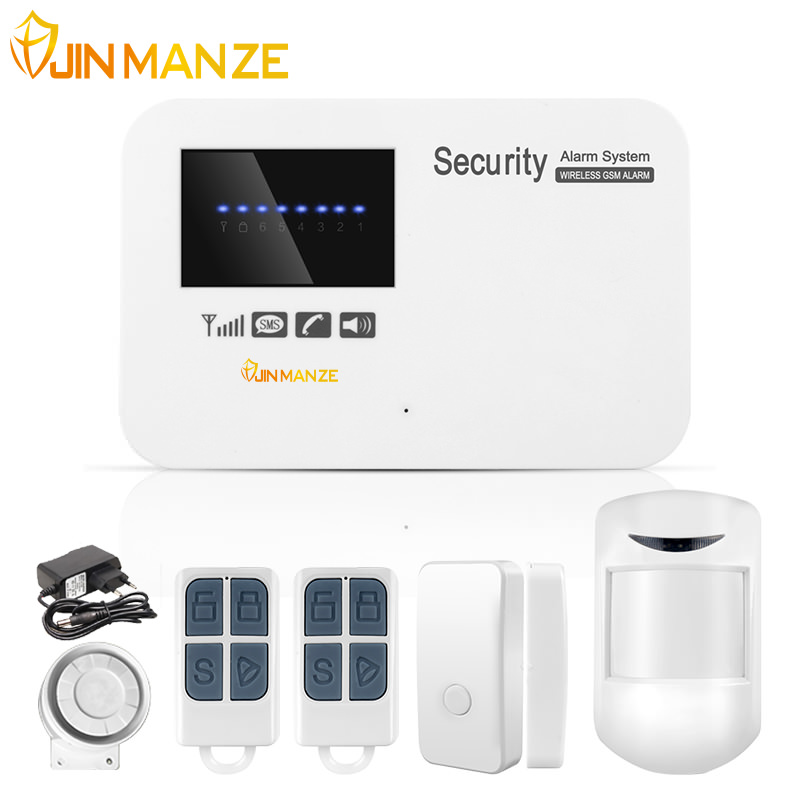 JINMANZE IOS Android APP Control Wireless Home Security GSM Alarm System Intercom Remote Control Autodial Wired Siren Sensor Kit как щенка кане корса в москве