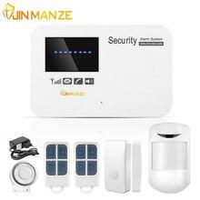 Jinmanze IOS приложение для Android Управление Беспроводной домашней безопасности GSM сигнализация Системы домофон Дистанционное управление Автодозвон проводной сирены Сенсор комплект