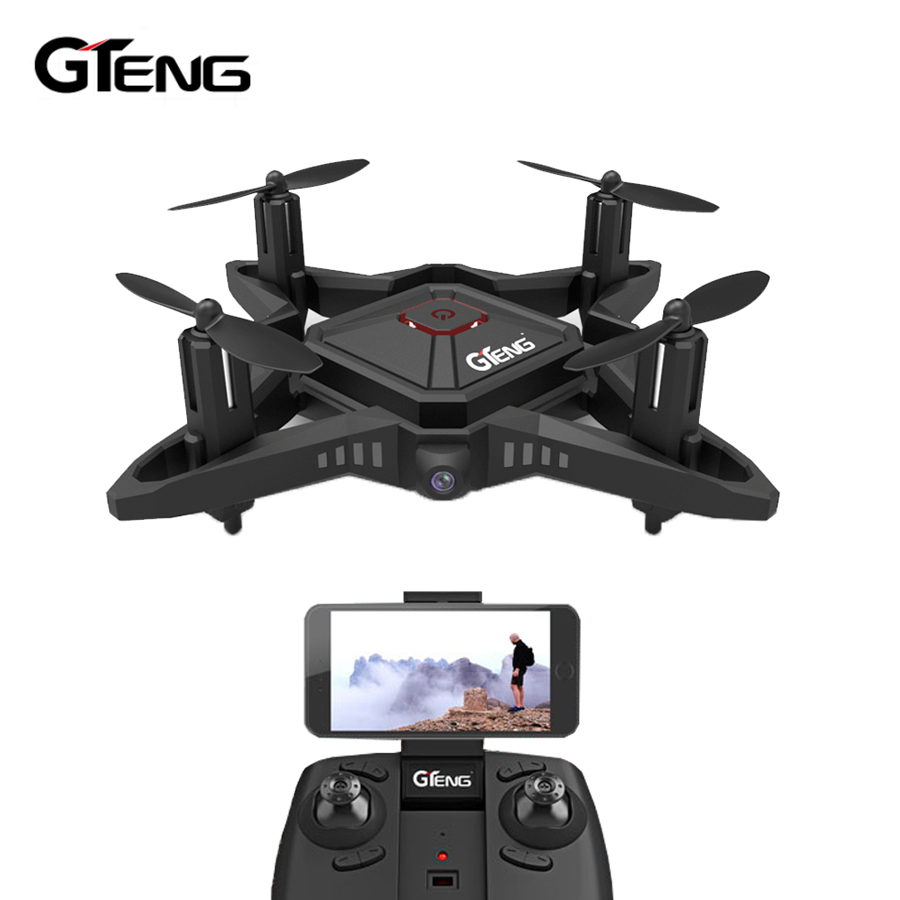 gteng t911w mini fpv drone with camera hd rc helicopter. Black Bedroom Furniture Sets. Home Design Ideas
