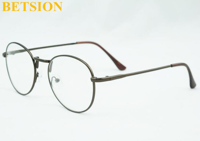 a39345fd47f3 Vintage Myopia NEARSIGHTED Distance GLASSES Retro Coffee Brown Eyeglasses  Frame Minus -1.0 -1.25 -