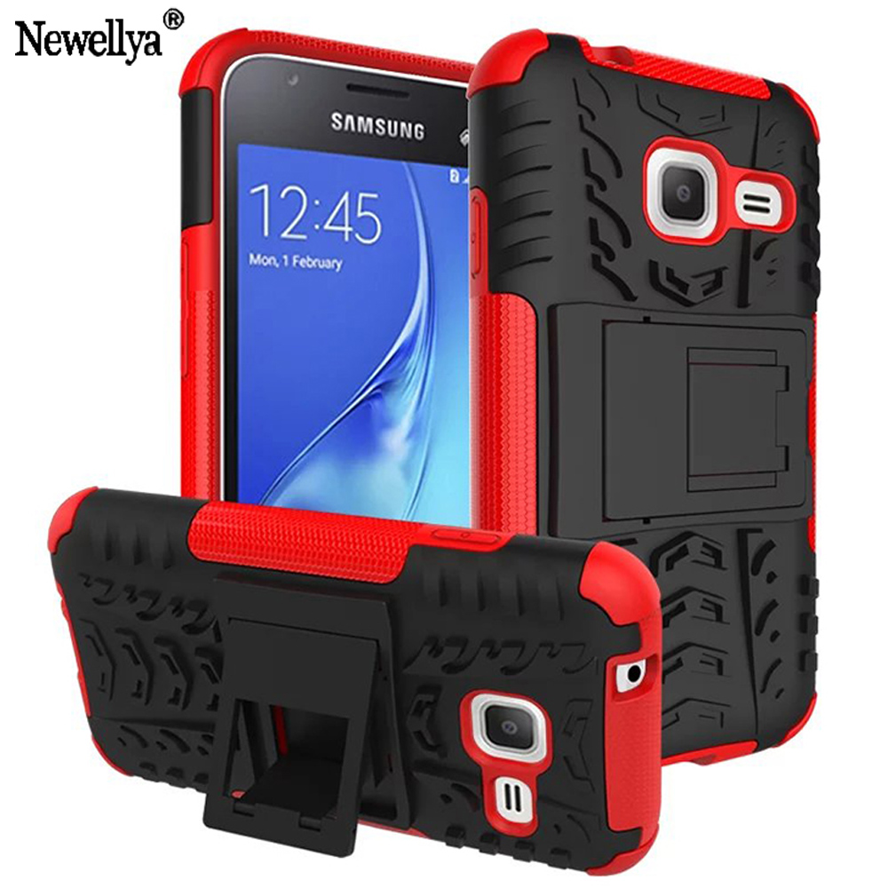 Armor Stand Case For Samsung Galaxy J1 Mini Mobile Phone Cases Style Hybrid  Dual Heavy Duty Shockproof Plastic Back Cover J105F