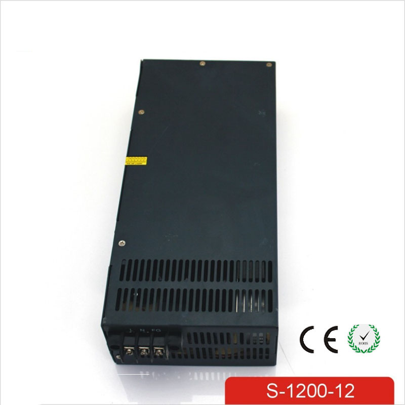 CE Soro 110V INPUT 1200W 12v 100A power supply Single Output Switching power supply for LED Strip light AC to DC UPS ac-dc 600w 36v 16 6a 110v input single output switching power supply for led strip light ac to dc