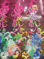 Nice Flower Good Quality Cord Net Lace Fabric With Stones JRB 82304 Latest African Guipure Lace