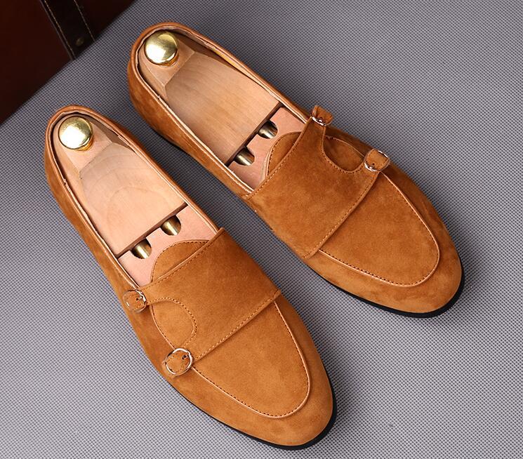 Noce Brun Robe Chaussures 2 Mâle Mode 1 À Rues Noir Casual Appartements Boucle Bal De La Hommes Oxford Ceinture Mocassins TP6gwHzHq