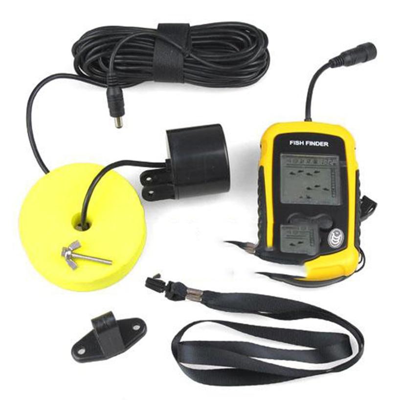 1 pièces Sonar Portable alarme détecteur de poisson écho sondeur 0.7-100 M capteur capteur de profondeur avec manuel russe offre spéciale