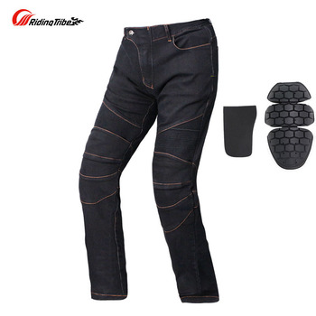 2019 new motorcycle  jeans motorbike pants riding clothes  motocross Anti-fall trousers with Detachable knee & Ankle pads S -4XL