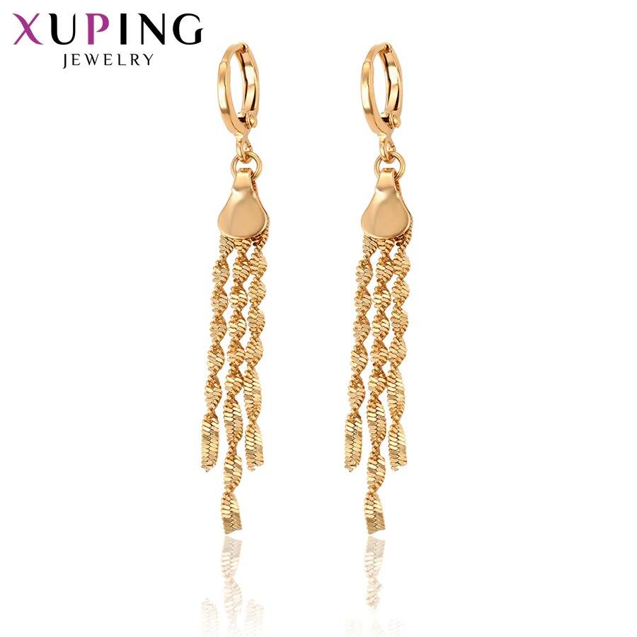 Xuping Mode Luxus Ohrringe Schmuck Mit Licht Gelb Gold Farbe Überzogen Für Frauen Thanksgiving Geschenk S63.8-29262 Schmuck & Zubehör