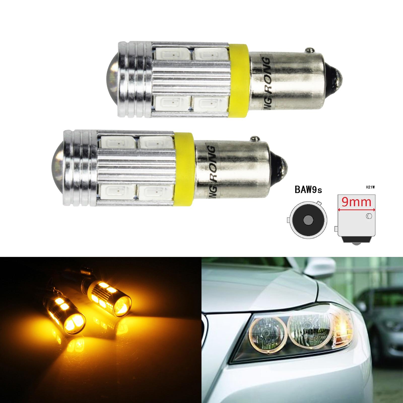 4x Amber Yellow 1156 BAY15S 12 Chips COB LED Turn Signal Backup Light Bulbs 12V