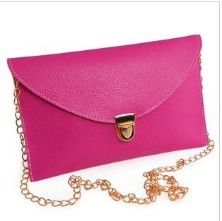free shipping,2013 new arrival fashion lady leather handbag,women Chain envelope bag shoulder bag ,cb102