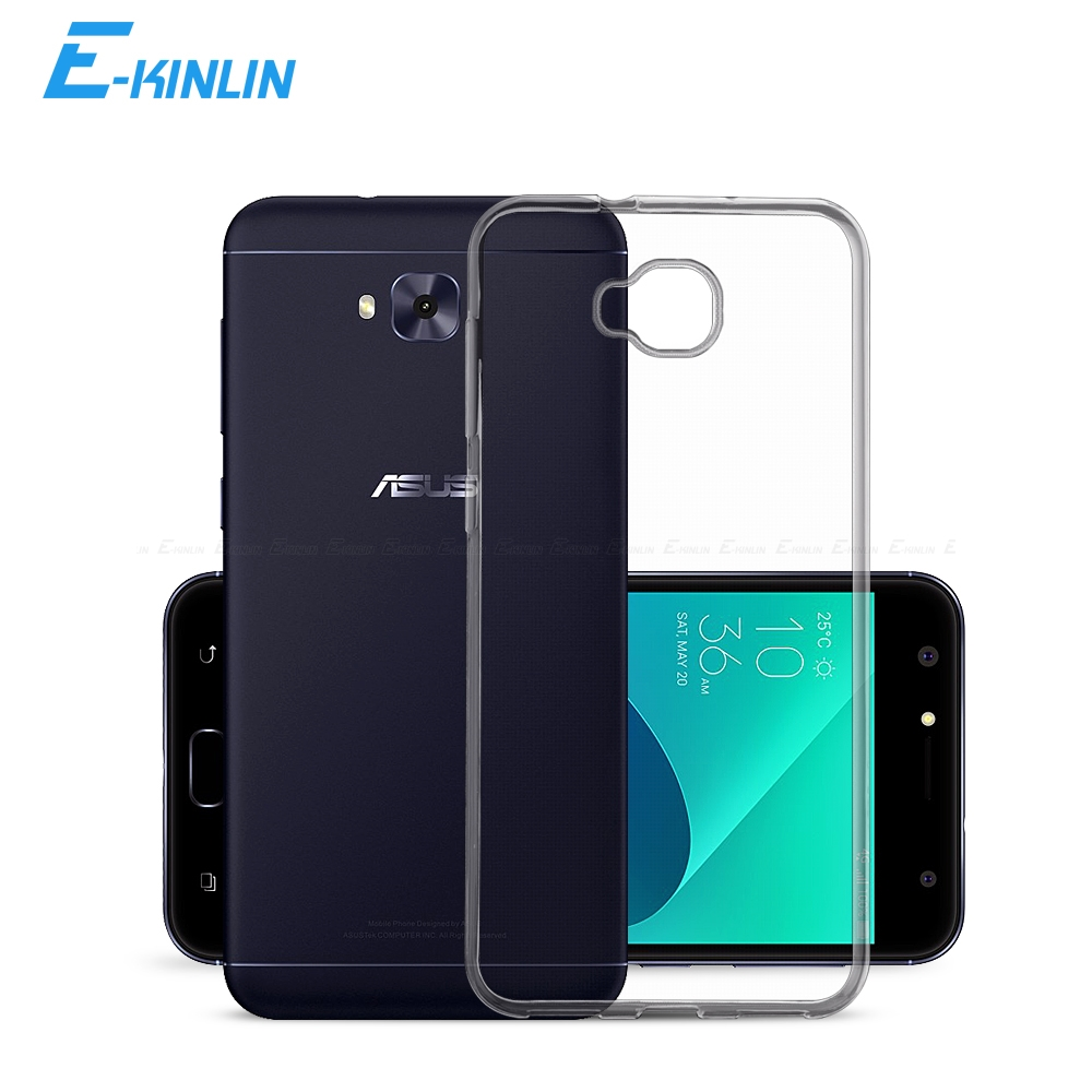Clear Crystal Soft Silicone Full Cover For <font><b>Asus</b></font> <font><b>ZenFone</b></font> <font><b>4</b></font> <font><b>Selfie</b></font> Pro Lite ZD553KL ZB553KL ZD551KL ZD552KL Ultra Thin TPU <font><b>Case</b></font> image