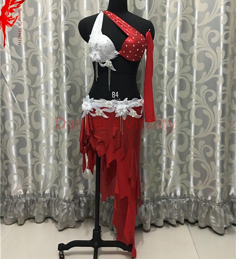 Женский костюм для танца живота, индийский бюстгальтер, декорированный камнями, топ и короткая юбка, 2 шт., костюм для танца живота, Женская О