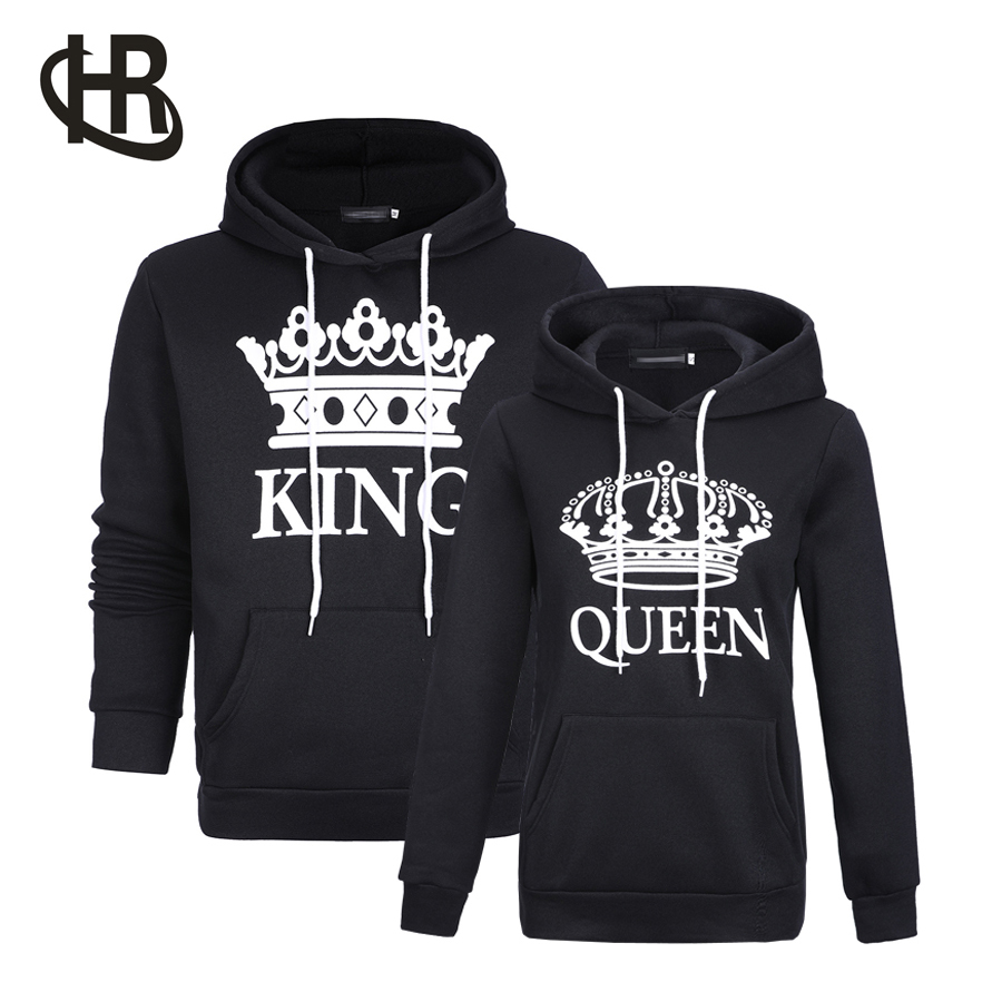 H&R Lover Couple Matching King And Queen Hoodie Jumper Tops Sweatshirts