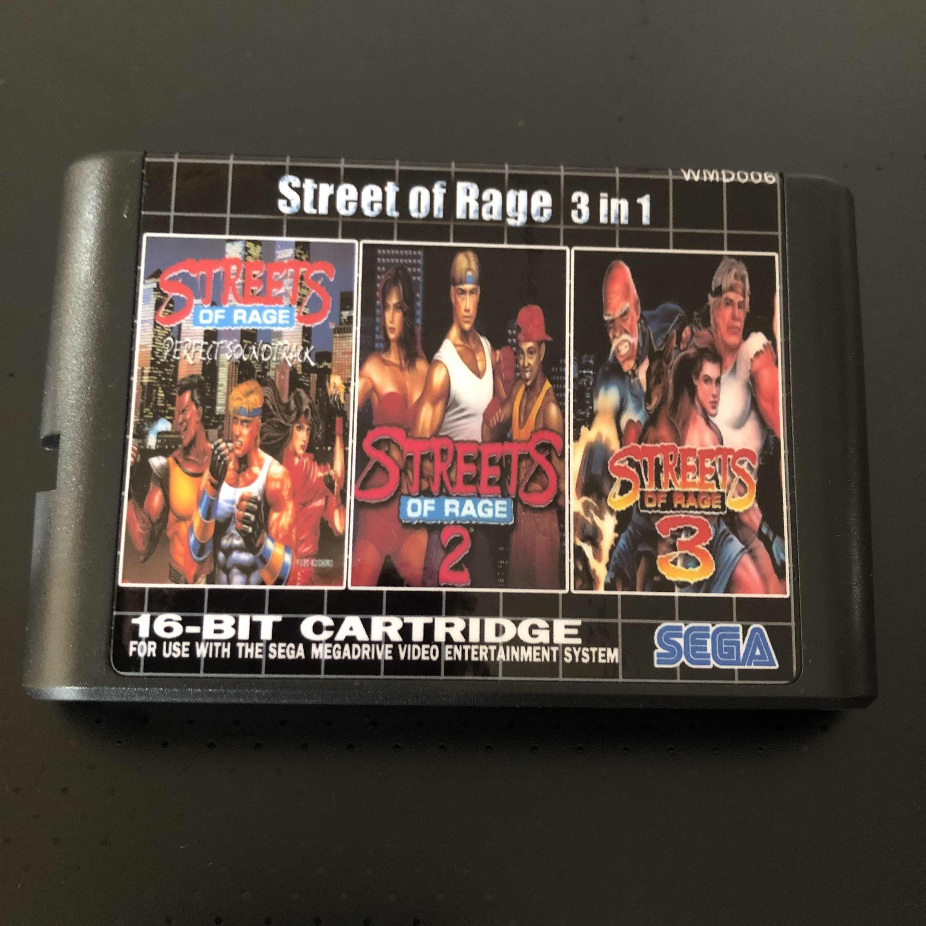 Streets of Rage 3 in 1  For SEGA GENESIS Mega Drive 16 bit Game Cartridge For PAL and NTSC Drop shipping