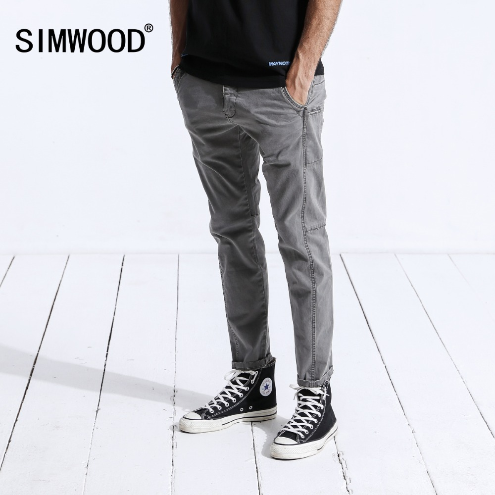 SIMWOOD Новинка 2019 г. зимние повседневные штаны для мужчин модные узкие джоггеры спортивные брюки мотобрюки плюс размеры брендовая одежда 180442