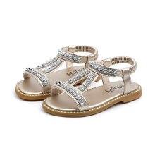 807b4991f COZULMA الصيف الفتيات الصنادل الاطفال حجر الراين الأميرة الصنادل الفتيات  أحذية أنيقة الأطفال المصارع الأحذية الصنادل الفضة الذهب