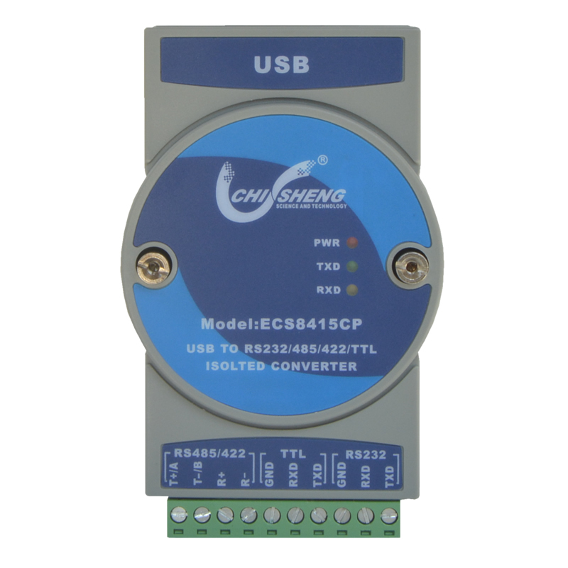 ECS8415CP Industrial Grade USB to RS232/ 485/422/TTL USB Serial Port Photoelectric Isolation