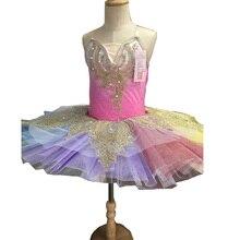 Цвет Балетная пачка танцевальная одежда платье Дети профессионально балетные костюмы женские одежда балерины Бальные балетные танцы платье наряды для девочек
