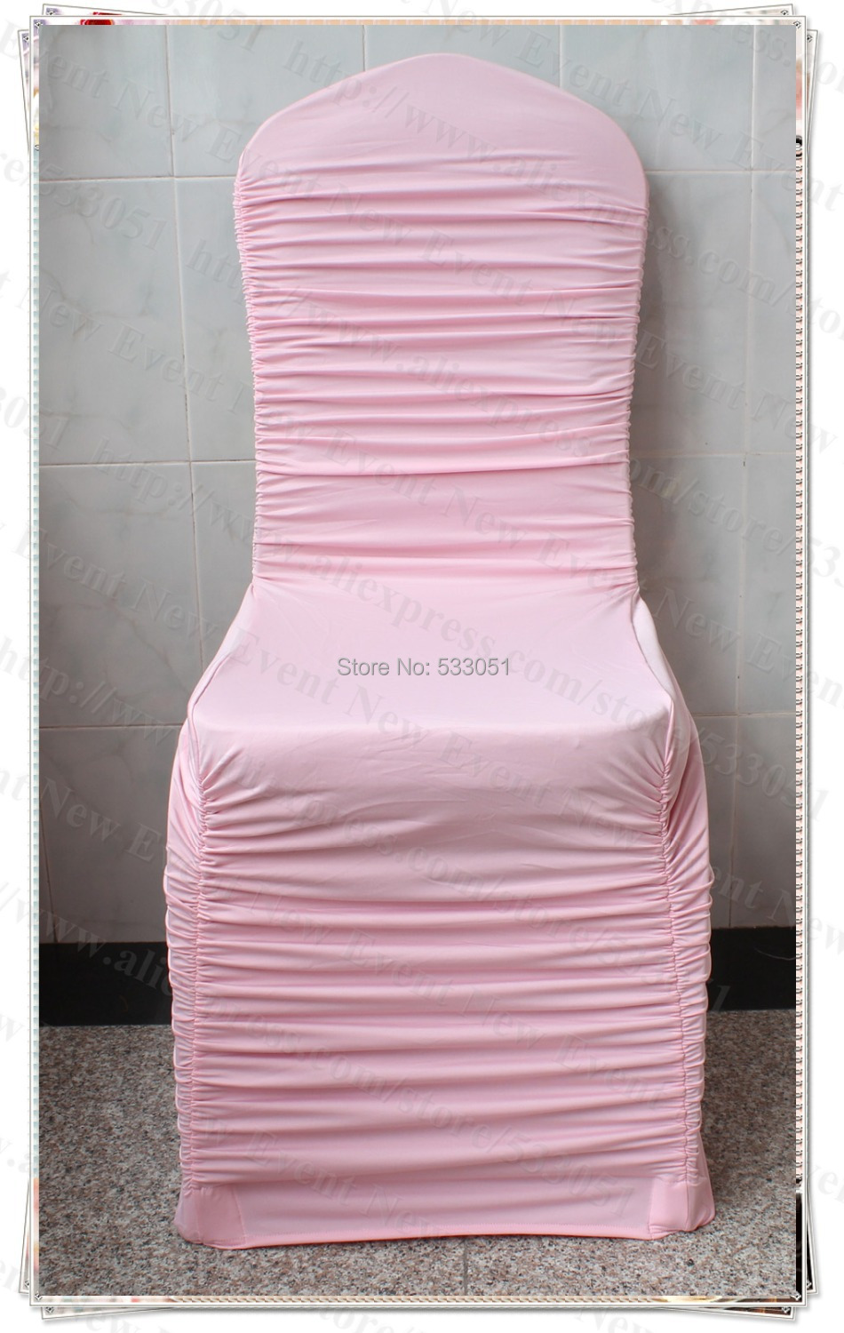 light pink spandex chair covers modern computer hot sale color ruffled cover ruffle lycra for wedding decoration party