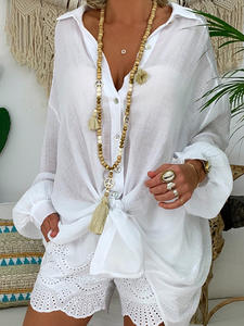 feelingstory Plus Size Shirt for Women Cotton Blouse Tops